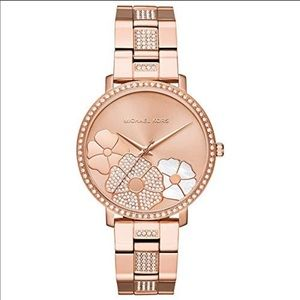 Michael Kors MK3865 Rose Gold Jaryn Flowers watch